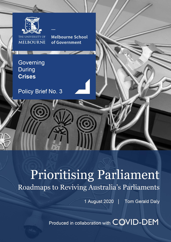 Prioritising Parliament