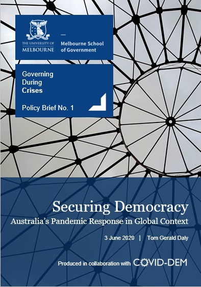 Securing democracy title page